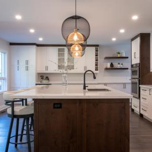 Aurora Home Renovation White Natural Wood