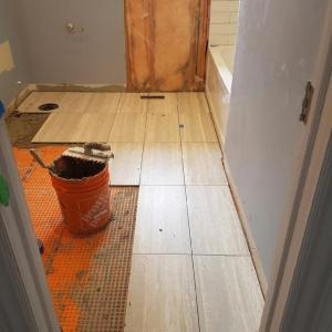 Tile Install in King City Bathroom