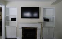 Fully Custom Wall Unit With Fireplace, Mantel and Storage Shelves